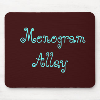 Monogram Alley Mouse Pad