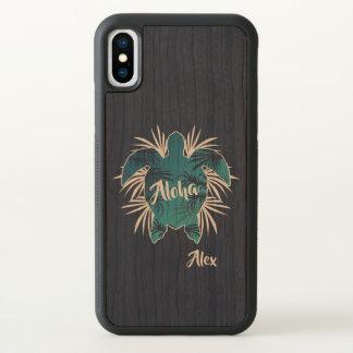 Monogram. Aloha. Tropical. Turtle. iPhone X Case