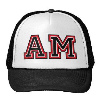 Monogram 'AM' initials Hat