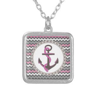 Monogram Anchor Nautical Zigzag Gift Jewelry