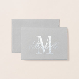 Monogram and Name Foil Card