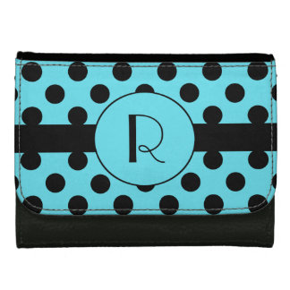 Monogram and Polka Dot Custom Wallet