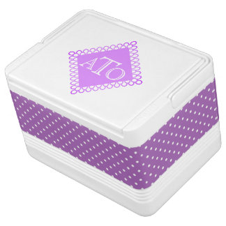 Monogram and Polka Dots Cooler