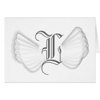 Monogram Angel's Wings-Customize Greeting Card