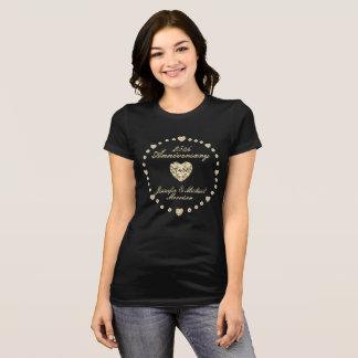 Monogram Anniversary Circle of Hearts and Diamonds T-Shirt