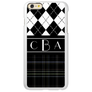 Monogram Argyle and Plaid Incipio Feather® Shine iPhone 6 Plus Case