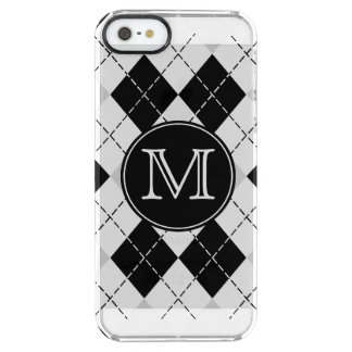 Monogram Argyle Clear iPhone SE/5/5s Case