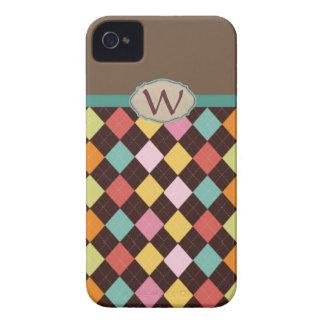 Monogram argyle diamond pattern Case-Mate iPhone 4 cases