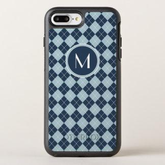 Monogram | Argyle In Blues OtterBox Symmetry iPhone 8 Plus/7 Plus Case