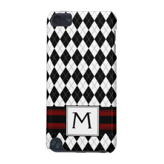 Monogram Argyle Pern Merlot Red iPod Touch 5G Covers