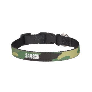 MONOGRAM | ARMY GREEN CAMO DOG COLLAR