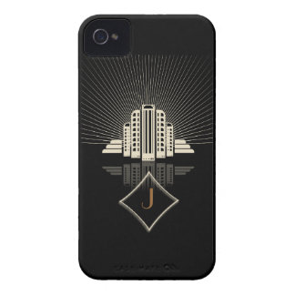Monogram Art Deco Tower Spray iPhone 4 Case-Mate Cases