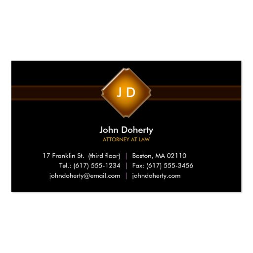 Monogram Attorney at Law - Business Card