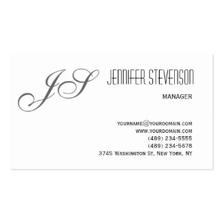 Monogram Attractive Charm Consultant Business Card