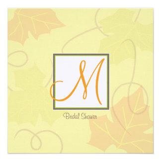 Monogram Autumn Bridal Shower Invitation