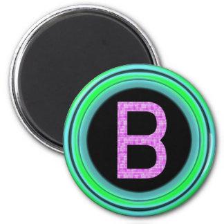 """Monogram """"B"""" 6 Cm Round Magnet"""