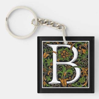 Monogram B Acrylic Key Chain