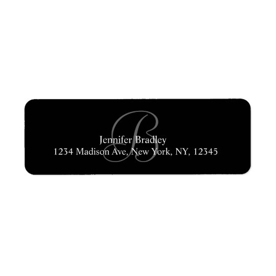 Monogram B Address Labels