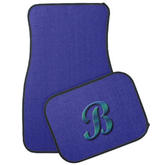 Monogram B blue green Car Mat