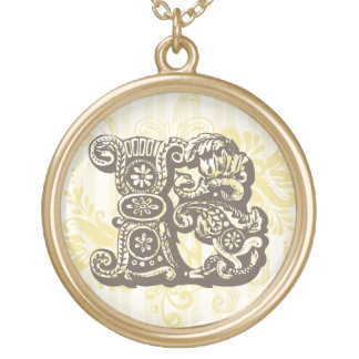 Monogram B Gold Plated Necklace