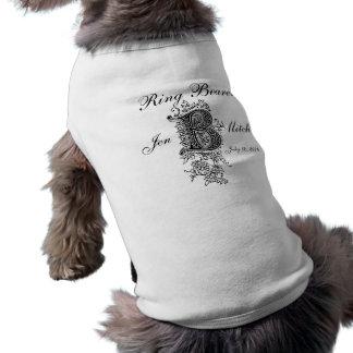 Monogram B Ring Bearer Wedding Dog Shirt Gift