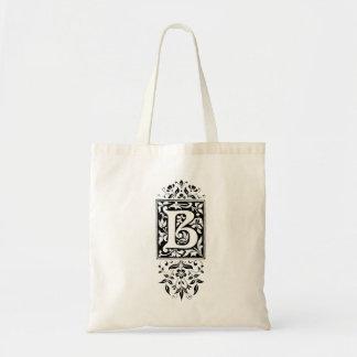 """Monogram """"B"""" Tote Bag"""