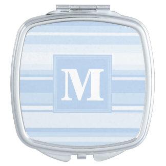 Monogram baby blue stripes compact mirrors