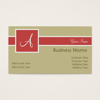 Monogram Band Sand & Salmon Business Cards