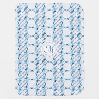 Monogram.Baroque element. Baby Blanket