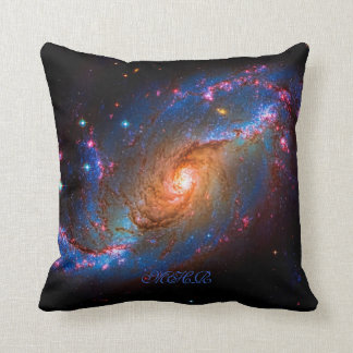 Monogram Barred Spiral Galaxy NGC 1672 Cushion