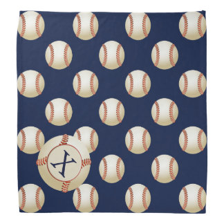Monogram Baseball Balls Sports pattern Bandana