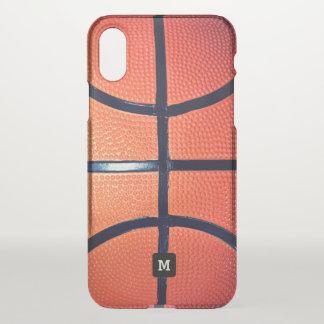 Monogram. Basketball Close-up. iPhone X Case