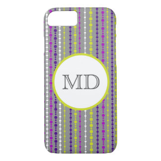 Monogram beaded stripe iPhone 7 case