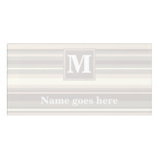 Monogram beige stripes door sign