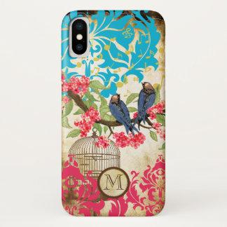 Monogram Birdcage Bird Damask iPhone 5 Case
