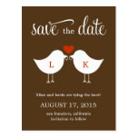 Monogram Birds Save The Date Card