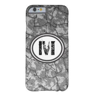Monogram black and grey pattern  iphone case