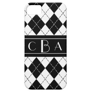 Monogram Black and White Argyle iPhone 5/5S Covers