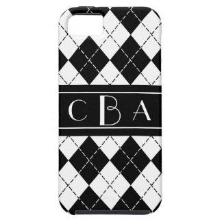 Monogram Black and White Argyle iPhone 5/5S Case