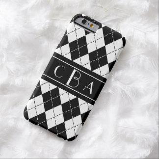 Monogram Black and White Argyle iPhone 6 Case