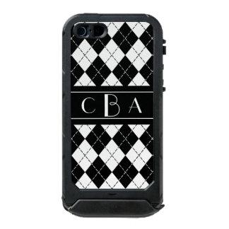 Monogram Black and White Argyle Incipio ATLAS ID™ iPhone 5 Case