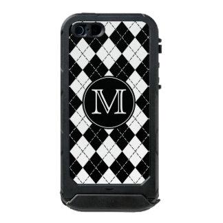 Monogram Black and White Argyle iPhone 5 Case Incipio ATLAS ID™ iPhone 5 Case