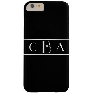 Monogram Black and White Barely There iPhone 6 Plus Case
