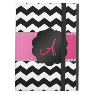 Monogram black and white chevrons case for iPad air