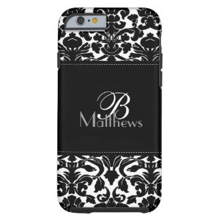 Monogram Black and White Damask iPhone 6 case Vibe