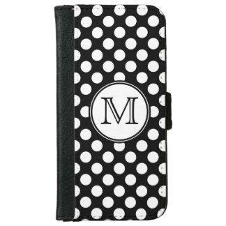 Monogram Black and White Polka Dot iPhone 6 Case