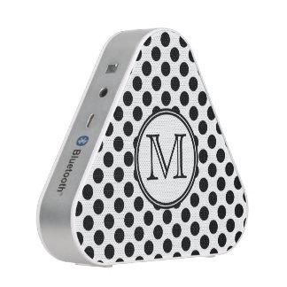 Monogram Black and White Polka Dot Speaker