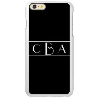 Monogram Black and White Incipio Feather® Shine iPhone 6 Plus Case