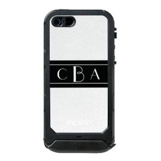 Monogram Black and White Incipio ATLAS ID™ iPhone 5 Case
