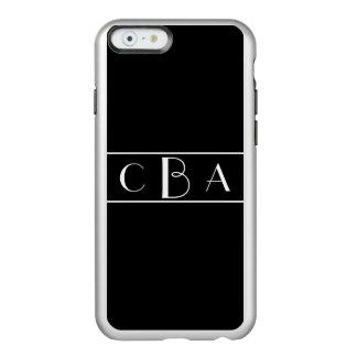 Monogram Black and White Incipio Feather® Shine iPhone 6 Case
